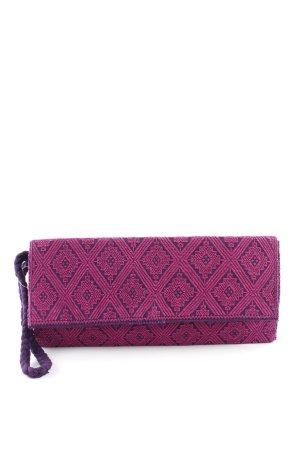 Clutch braunviolett-violett Ikatmuster Casual-Look