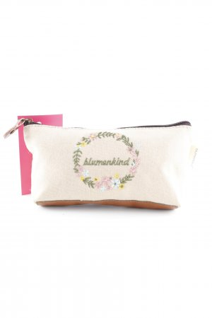 Clutch creme-hellbraun Country-Look