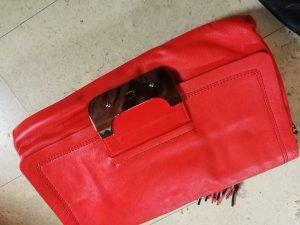 Clutch Diane von Furstenberg neon orange Handtasche
