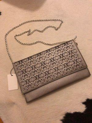 Clutch grau Party Hochzeit accesoires vivian ray Tasche Silber Mode Blogger Fashion