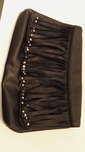 Clutch H&M mit Fransen schwarz