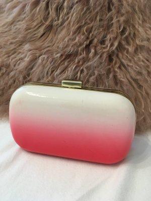 Clutch H&M rosa/weiß