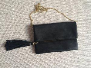 Clutch H&M schwarz mit Quaste, wie neu