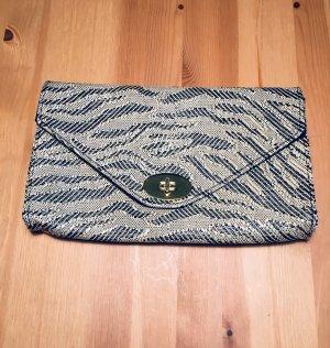 Clutch/ Handtasche mit goldener Schnalle