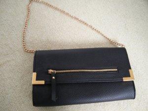 Clutch Handtasche schwarz gold