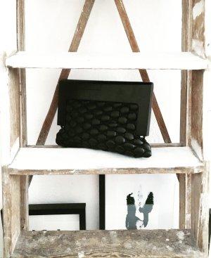 clutch / handtasche / vintage / granny / schwarz / dunkelbraun