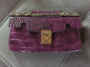 Clutch Handtasche von Valentino Abendtasche Bordeaux Weinrot Gold