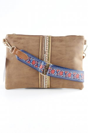 Clutch hellbraun Casual-Look