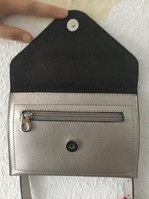 Borsa clutch argento Finta pelle