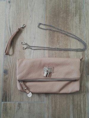 Clutch / kleine Handtasche / Umhängetasche / nude beige