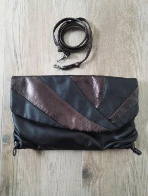 Clutch / kleine Handtasche, z.B. für den Herbst / Umhängetasche / blau / Schultertasche