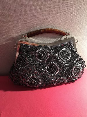 Clutch kleine Tasche mit Perlen