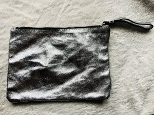 Mango Borsa clutch argento-nero
