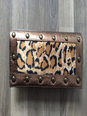 Clutch Leopard Bronze