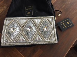 Balmain for H&M Clutch black-silver-colored