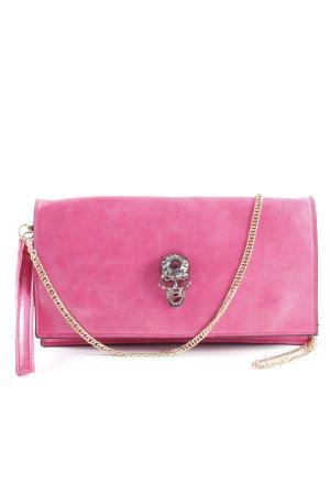 Bolso de mano rosa estilo extravagante