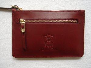 Clutch, Pochette, Massimo Dutti, Bordeaux-rot, Leder