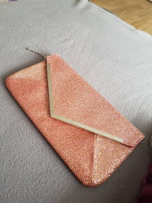 Borsa clutch color oro rosa