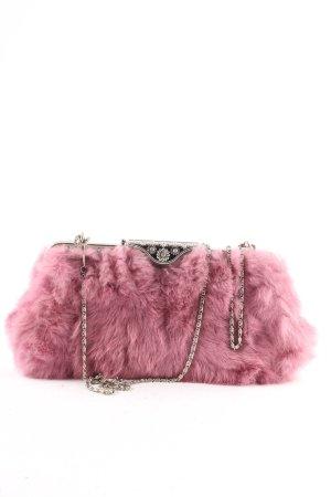 Pochette rose-argenté style extravagant