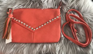 David Jones Clutch neon orange-red
