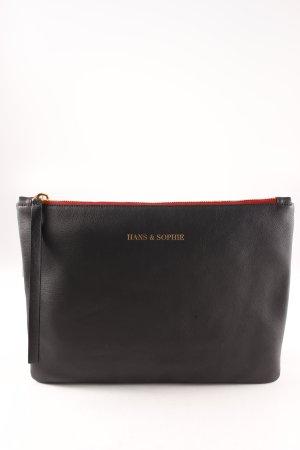 Bolso de mano negro-rojo elegante