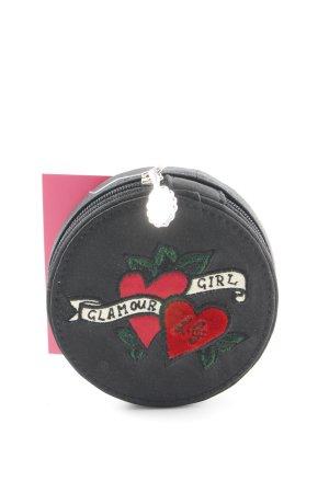 Clutch schwarz-rot Herzmuster 90ies-Stil