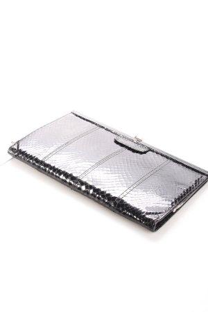 Bolso de mano negro-color plata estampado de animales productos vintage