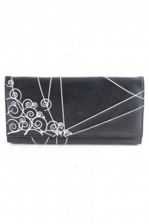 Clutch schwarz-weiß abstraktes Muster Casual-Look