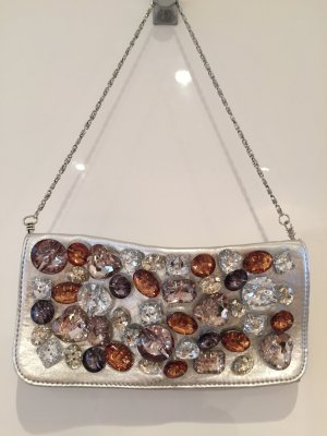 Clutch Silber metallic