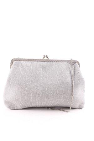 Clutch silver-colored elegant