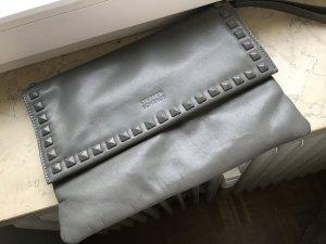 Clutch Steffen Schraut Nieten grau Leder Handtasche Tasche Pochette