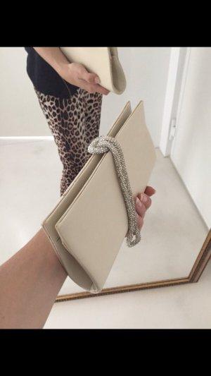 Clutch Tasche Abendtasche beige