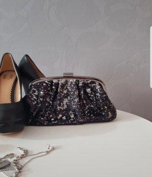 Clutch Tasche Handtasche schwarz mit Pailetten