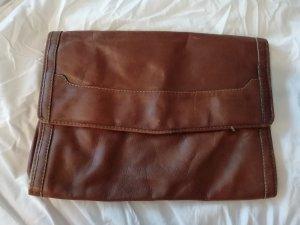 Clutch Tasche Leder Vintage
