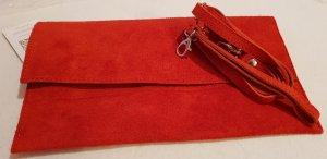 moda moda Borsa clutch rosso