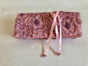 Clutch Tasche Satintasche aus UK mit Perlenstickerei kosmetiktasche