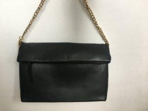 Zara Woman Pochette noir-doré faux cuir