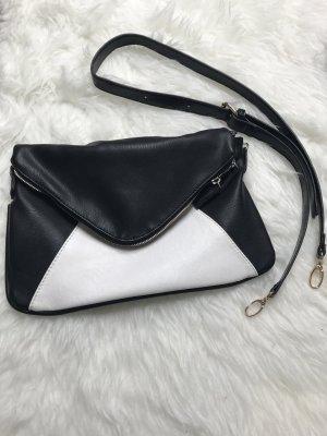 Clutch Umhängetasche Schwarz Weiß Abendtasche