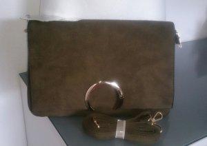 Bolso de mano gris verdoso-caqui