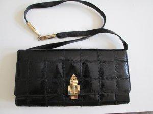Clutch Vintage 50er/60er Jahre Leder schwarz