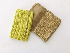 Clutch von H&M, gold und gelb, NEU