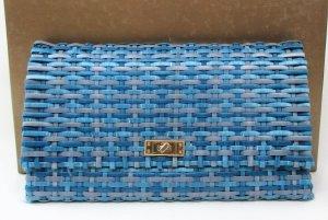 """Clutch von H&M/Handarbeit """"Intrecciato-Technik""""/ Blau/ Polyurethan/Textilfutter/NEU!"""