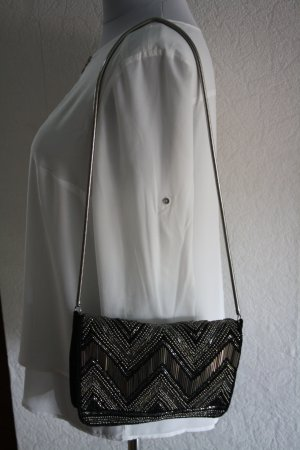 H&M Borsa clutch nero-argento