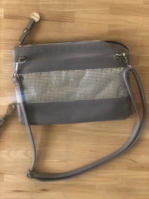 Hallhuber Borsa clutch grigio-argento