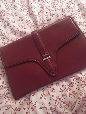 Zara Clutch bordeaux-gold-colored