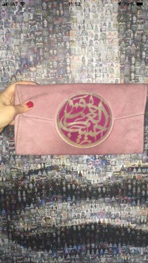 Clutch Wildleder Arabische Calligraphy