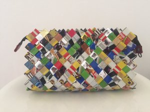 Borsa clutch multicolore Materiale sintetico