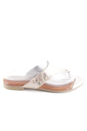 Cm Laufsteg Flip-Flop Sandals cream-bronze-colored casual look