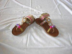 Cm Laufsteg Sandalo con cinturino multicolore Pelle