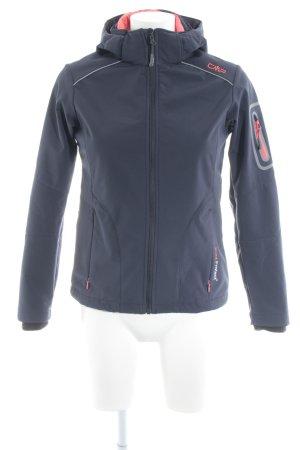 CMP Outdoorjacke dunkelblau-neonrot sportlicher Stil